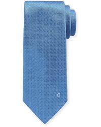Ferragamo   Tonal Gancini Textured Solid Silk Tie   Lyst