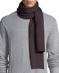 Vince Cashmere Solid Scarf - Gray