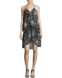 Diane Von Furstenberg Woman Embellished Sequined Tulle Mini Dress Black Size 0 Diane Von F ELbo1F3B