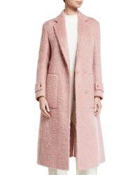 Agnona - Long Boucle Mohair Coat - Lyst