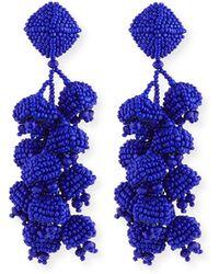Sachin & Babi - Grapes Beaded Clip Earrings - Lyst