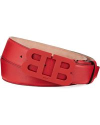 f6964097bdd Gucci Men s Leather Belt With Double-g Buckle in Brown - Lyst