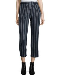 Thakoon Addition - Cross-front Striped Ankle Trousers - Lyst