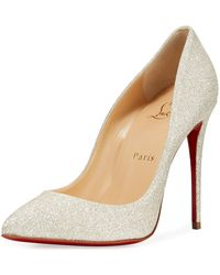 Christian Louboutin - Pigalle Follies Glittered Red Sole Pumps - Lyst