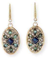 Armenta - Old World Diamond Pave Oval-drop Earrings - Lyst
