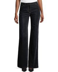 Theory - Demitria 2 Flared-leg Velvet Denim Jeans - Lyst