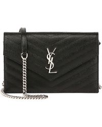 ca92a8fb Saint Laurent Leather Kate Monogram Ysl Small Python-effect Tassel ...