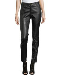 Lafayette 148 New York - Mercer Mid-rise Leather Skinny Jeans - Lyst