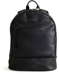 Want Les Essentiels De La Vie Black Leather O'hare Kastrup Backpack