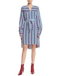 Derek Lam - Striped Belted Shirt Dress - Lyst