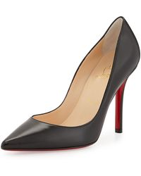 Christian Louboutin - Apostrophy Pointed Red-sole Pump - Lyst