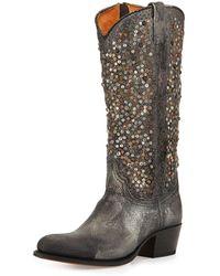 Frye Deborah Studded Vintage Leather Boot - Black