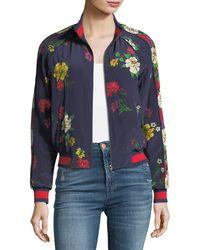 Joie - Avariella Floral-print Silk Bomber Jacket - Lyst