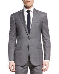 Ralph Lauren Men's Anthony Two-piece Sharkskin Suit - Gray