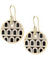 Davidor L'arc De 18k Gold Diamond Drop Earrings - Grand Model - Metallic