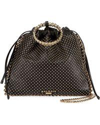 Balmain - Leather Studded Bracelet Backpack - Lyst