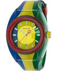 Gucci - 46mm Sync Sport Watch W/ Rubber Strap - Lyst
