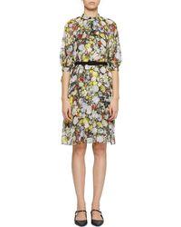 Erdem - Melodie Floral-print Silk Dress - Lyst