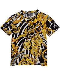 2733c269f9 Versace Blasone Barocco T-shirt in Black for Men - Lyst