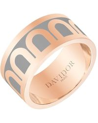 Davidor L'arc De 18k Rose Gold Ring - Grand Model - Metallic