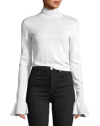 Veronica Beard - Tol Bell-sleeve Wool Turtleneck Sweater - Lyst