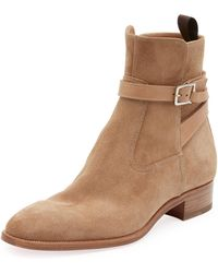 8a23e927ba8f Christian Louboutin - Men s Quico Suede Harness Boot - Lyst