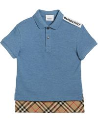 c60aafea6 Burberry - Hammond Short-sleeve Check-trim Polo Shirt - Lyst