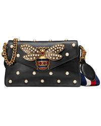 Gucci - Broadway Pearly Bee Shoulder Bag - Lyst