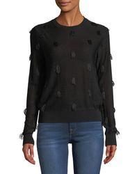 Christian Wijnants - Kohino Crewneck Pullover Sweater W/ Fringe Details - Lyst