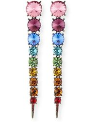 Oscar de la Renta - Swarovski Crystal Cascade Rainbow Tendril Earrings - Lyst