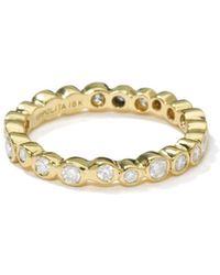 Ippolita 18k Gold Band Ring With Diamonds - Metallic