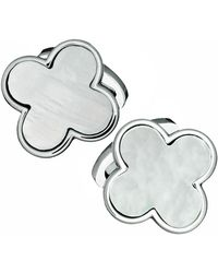 Jan Leslie - Mother-of-pearl Clover Cuff Links - Lyst