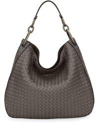 6da33832e0 Bottega Veneta - Large Loop Intrecciato Leather Shoulder Hobo Bag - Lyst