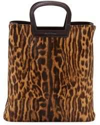 Ralph Lauren - Ocelot Leopard-print Calf Hair Horseshoe Tote Bag - Lyst fb3855cd18fc8