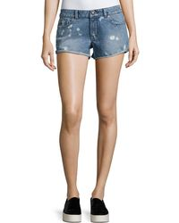 DL1961 - Renee Bleached-spots Cutoff Denim Shorts - Lyst