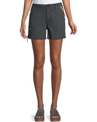 The Great The Desert Cotton Twill Shorts - Black
