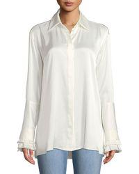 Maggie Marilyn - Everlasting Love Silk Button-front Shirt - Lyst