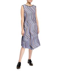 Issey Miyake - Dotted-line Sleeveless A-line Dress - Lyst