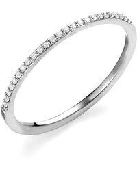Lana Jewelry - 14k Gold Thin Flawless Diamond Stack Ring - Lyst