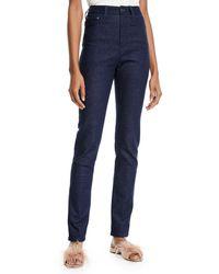 Brandon Maxwell High-waist Five-pocket Skinny-leg Jeans - Blue