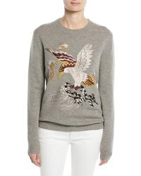 Ralph Lauren Collection - Embroidered Eagle Long-sleeve Cashmere Jumper - Lyst
