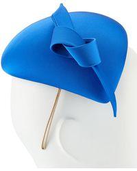 Philip Treacy Hand-blocked Satin Beret - Blue
