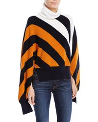 Monse - Turtleneck Diagonal-stripe Sweater With Slit Sleeves - Lyst