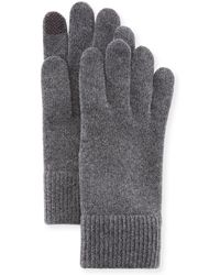 Portolano Cashmere Touchscreen Gloves - Gray