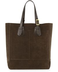 Tom Ford - Olive Suede Tote Bag - Lyst