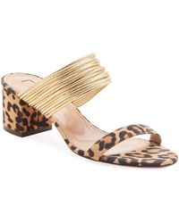 Aquazzura - Rendez Vou Leopard Jacquard Sandals - Lyst