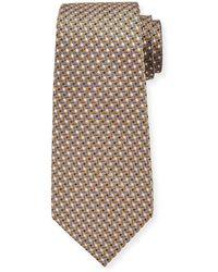93ef51c7 Men's Micro-geo Silk Tie Yellow