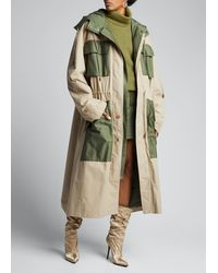 PUMA Two-tone Oversized Trench Parka - Natural