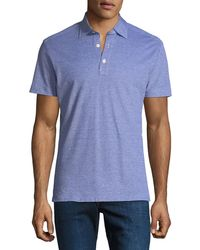 Kiton - Men's Oxford Heathered Polo Shirt - Lyst