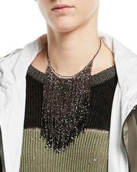 Brunello Cucinelli - Beaded Waterfall Choker Necklace - Lyst